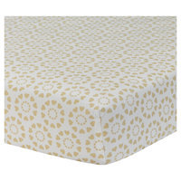 Lambs & Ivy Crib Sheet - Dawn, White