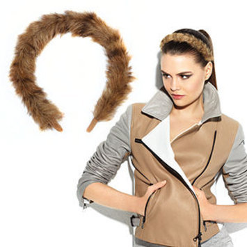 POP Put On Pieces Faux Fur Headband