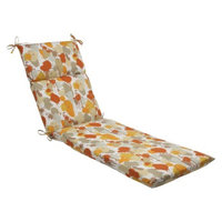 Pillow Perfect Outdoor Chaise Lounge Cushion - Orange/Tan Neddick