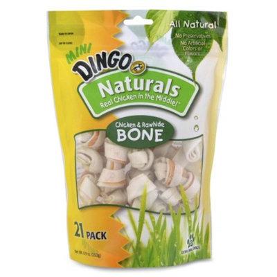 Dingo Mini Naturals Chicken & Rawhide Bones 21pk