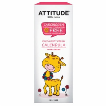 Attitude Little Ones Face & Body Cream Calendula, Fragrance Free, 2.6 oz