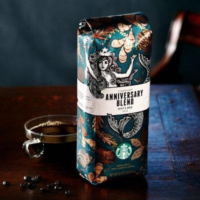 Starbucks Anniversary Blend - 1 Lb Whole Bean Coffee