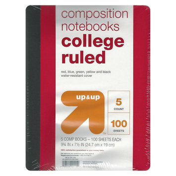 Poly Cover Compbooks, College Ruled, 100pgs, 9.75