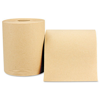 Windsoft 1280 Nonperforated Paper Towel Roll- 8 x 800'- Natural- 12/Carton
