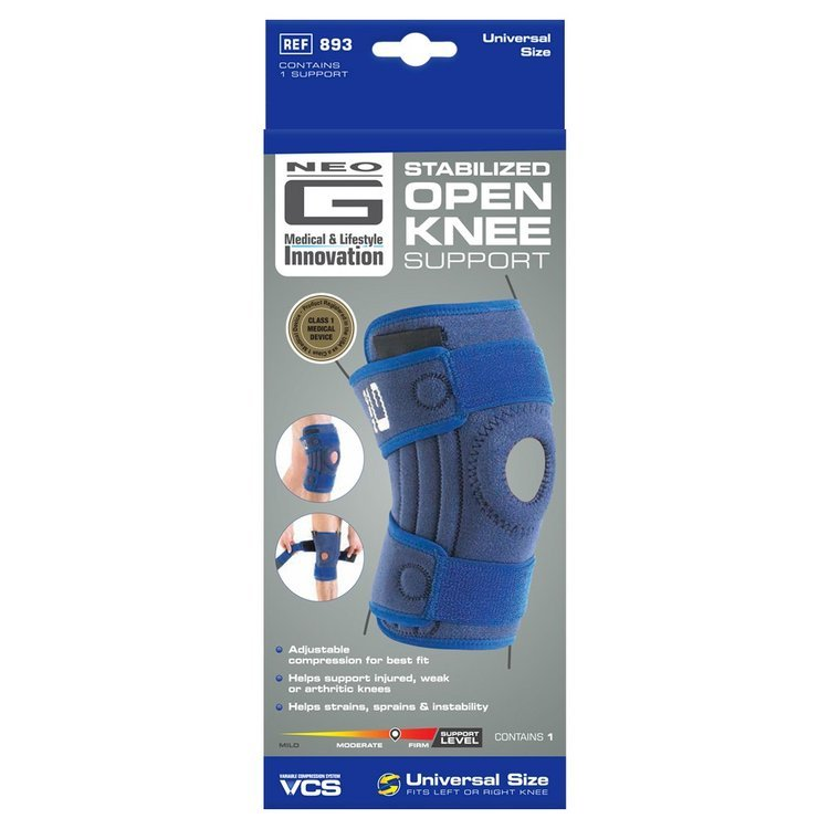 Neo-G Stabilised Open Knee Support (Blue)