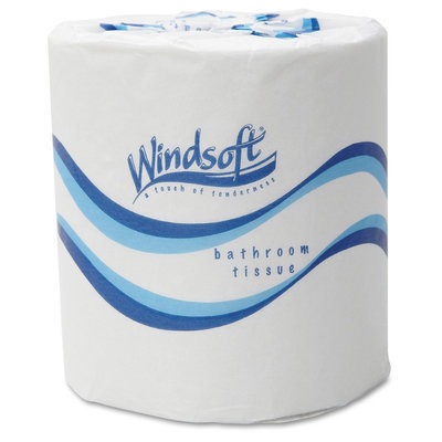 Windsoft Embossed Bath Tissue, 2-Ply, 500 Sheets/Roll, 48 Rolls/Carton