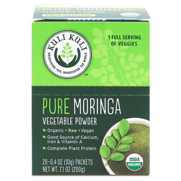 Kuli Kuli Pure Moringa Vegetable Super Food Powder Packets - 20 Count