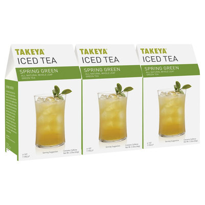 Takeya All Natural Whole Leaf Sring Green Iced Tea 6ct