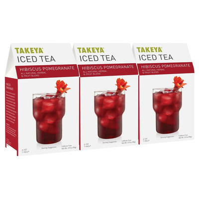 Takeya All Natural Hibiscus Pomegranate Iced Tea 6ct