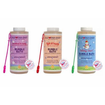 California Baby Bubble Bath 13 Oz - 3 Pack (Overtired & Cranky, Light & Happy and Holiday Cheer Bubble Bath)