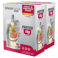 Smashpack Tropical Fruit Protein Squeeze Pack - 4 Count