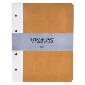 Horizon Bethany Mota 4-Ring Kraft Notebooks - 3ct, Light Brown
