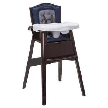 Eddie Bauer Classic Comfort 3-in-1 Wood High Chair - Twilight Blue