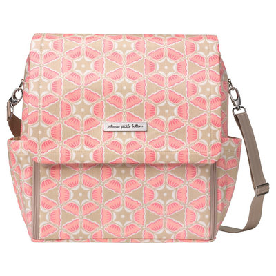 Infant Petunia Pickle Bottom 'Boxy Glazed' Diaper Bag - Pink