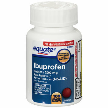Equate Ibuprofen Tablets with  Easy Open Cap