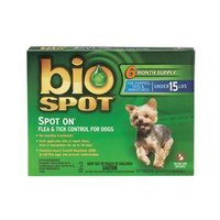 Bio Spot Spot On for Dogs under 15 lbs., 6 Month Supply