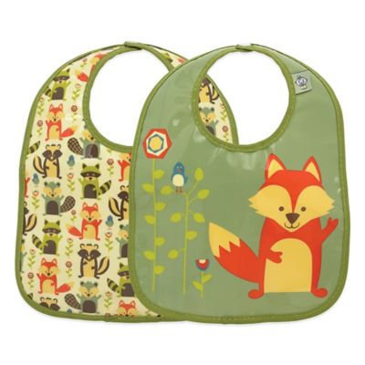 SugarBooger Mini Bib Gift Set (Fox) - 2-pack