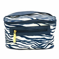 Estee Lauder Navy Blue and White Animal Print Cosmetic/makeup Bag