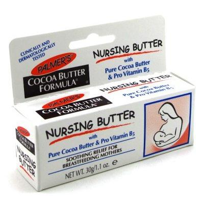 Palmers Cocoa Butter Nursing Cream 1.1 oz. With Free Pads (3-Pack) with Free Nail File