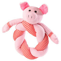House of Paws Barnyard Pig Twisty Dog Toy, Multi - Colored
