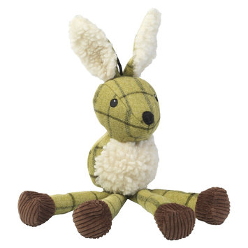 House of Paws Green Tweed Long Legs Hare Dog Toy