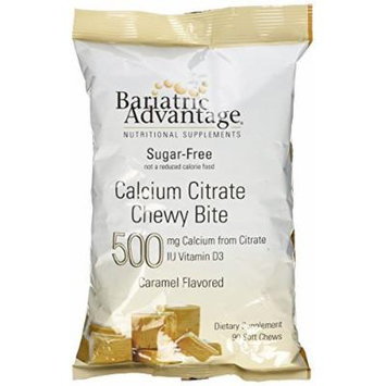 Bariatric Advantage Calcium Citrate 500mg Caramel Chewy Bite 90ct Bag-sugar free