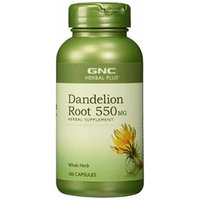 GNC Herbal Plus Dandelion Root, 550mg, Capsules, 100 ea