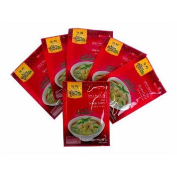 Asian Home Gourmet Spice Paste for Thai Green Curry, 1.75oz Packets (Pack of 6)