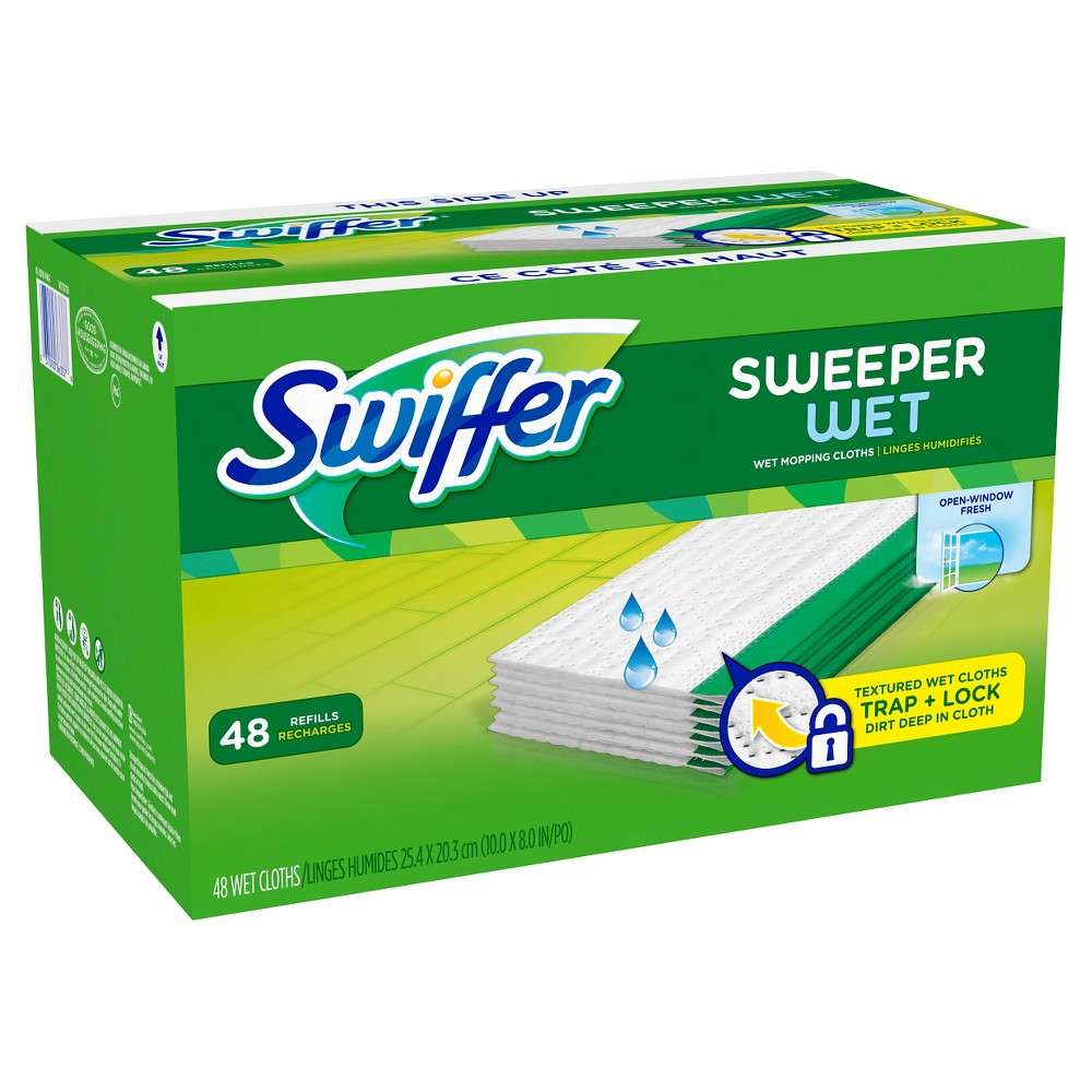 Swiffer Sweeper Wet Mopping Refills -48 nos