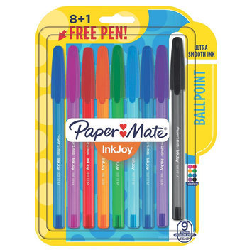 Paper-mate Paper Mate InkJoy Ballpoint Pens, 9ct - Multicolor, Multi-Colored