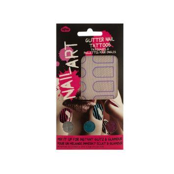 Kole Imports Bulk Buys Striped Nail Art Glitter Nail Tattoos Kit 24 Pack