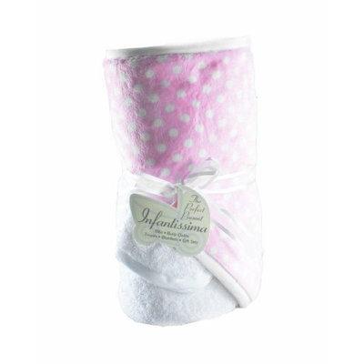Infantissima Hooded Towel, Minky Bubble Pink