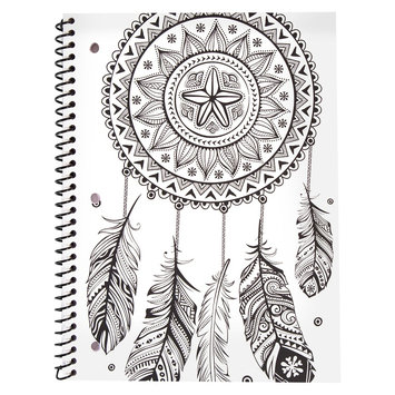 Horizon Bethany Mota Color Your Own Dream Catcher Notebook, White