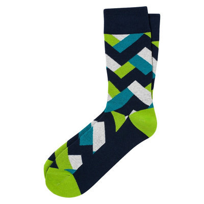 Pair of Thieves Men's Performance Casual Socks - Salmon and Teal Tribal 8 - 12, Size: 8-12, Multi-Colored