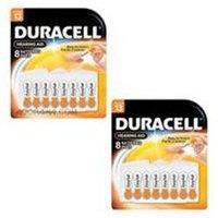 Duracell 1.4v Zinc Air Hearing Aid Batteries, Size 312, 16 Pack