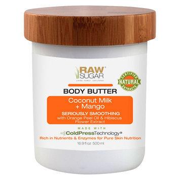 Raw Sugar Coconut Milk & Mango Body Butter - 16.9 oz, Clear