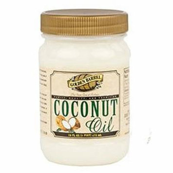 Golden Barrel Coconut Oil, 16 Ounce