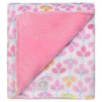 Boppy Ultra Plush Flower Print Blanket - Pink