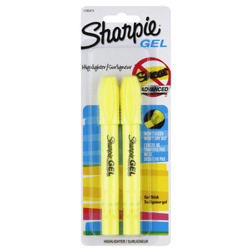 Sanford Ink 1780473 Accent Gel Highlighter Fluorescent Yellow Bullet 2 per Pack