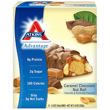 Atkins Advantage Caramel Chocolate Nut Roll Bars