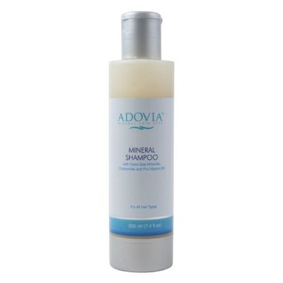 Seaora Mineral Skin Care Adovia Mineral Skin Care Dead Sea Mud Shampoo with Dead Sea Minerals, Vitamin E and Chamomile, 7.4 fl oz