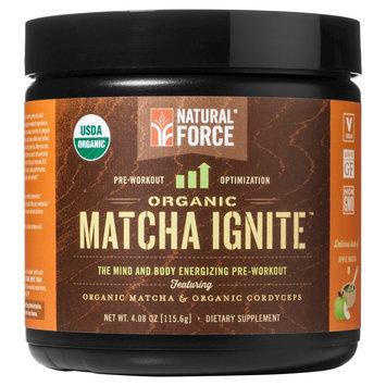 Natural Force Matcha Ignite Organic Pre-Workout Powder Apple 4.07 oz