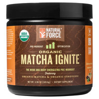 Natural Force Matcha Ignite Organic Pre-Workout Powder Chocolate 5.98 oz
