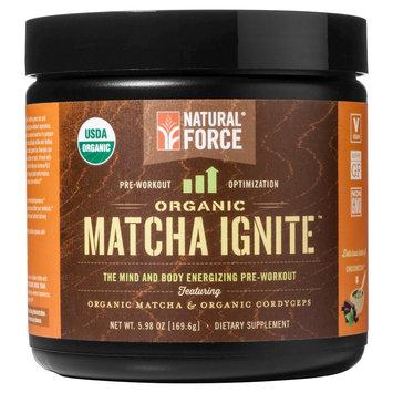 Natural Force Matcha Ignite Organic Pre-Workout Powder Chocolate 5.98 oz