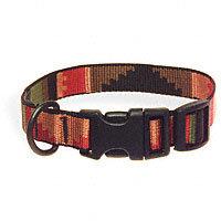 Bison Pet 3/4 Rasta Adjustable Nylon Dog Collar