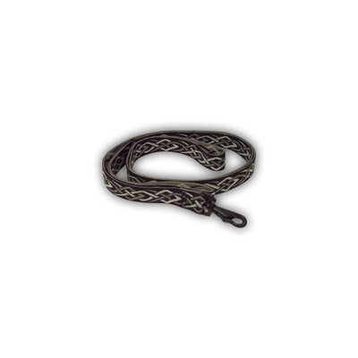 Bison Pet Black Thorn Nylon Dog Leash