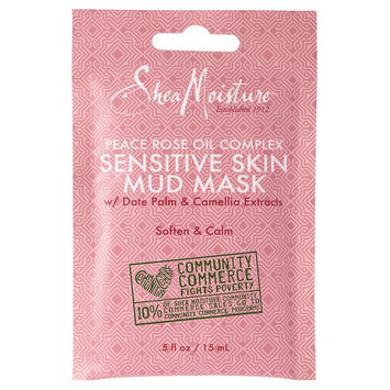 SheaMoisture Peace Rose Oil Complex Sensitive Skin Mud Mask with Date Palm & Camellia Extracts 0.5 oz