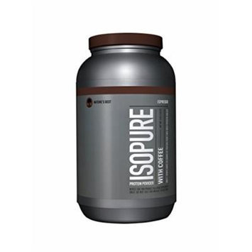 Isopure With Coffee Protein Powder, Espresso, 3 Pounds