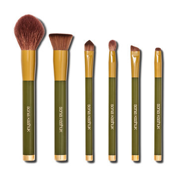 Sonia Kashuk Limited Edition Brush Set Earth 6 pc, Mixed Color