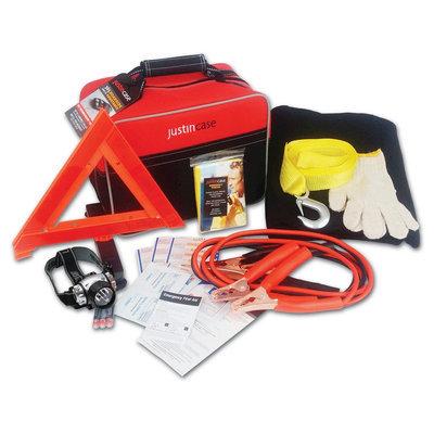 Justin Case Auto Safety & First Aid Kit- Premium, Black